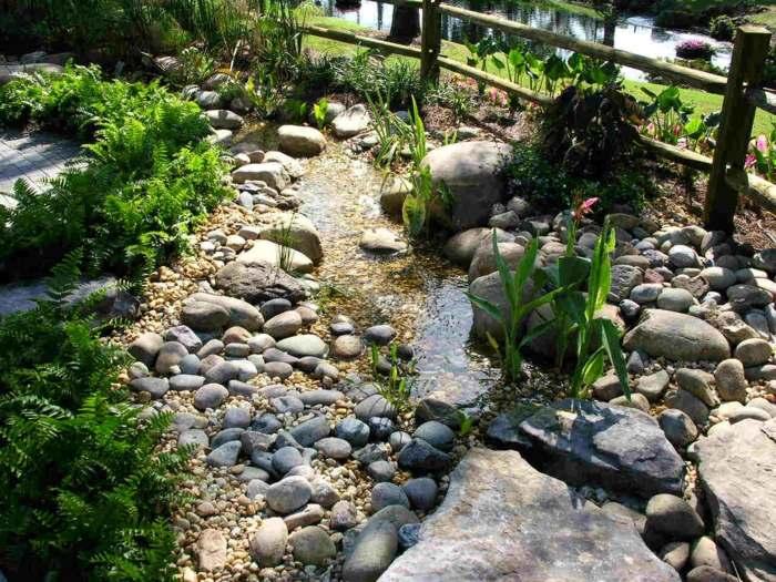 jardines piedras senderos rios lineas