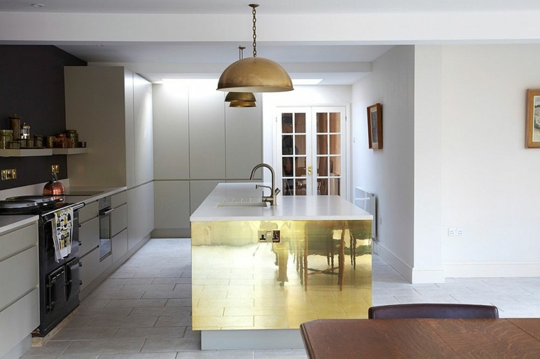 lamparas acentos cobre contemporaneas muebles