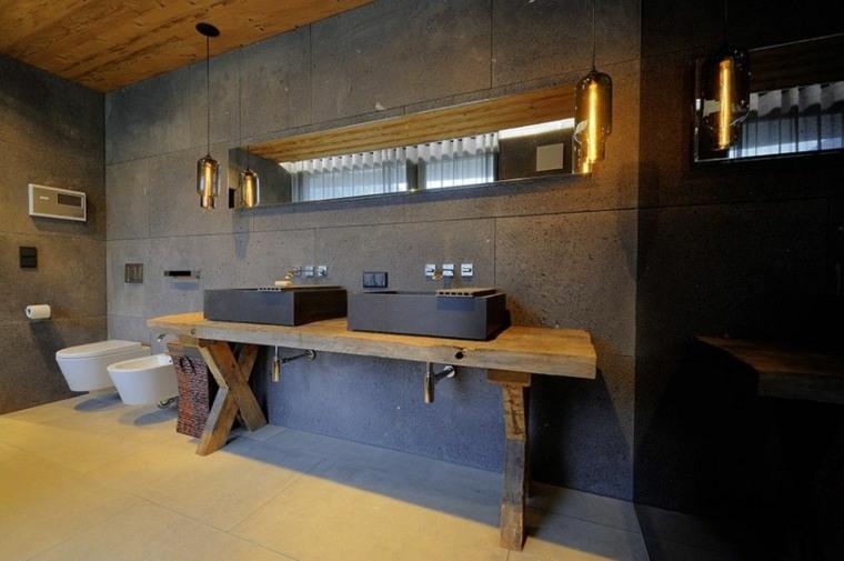 lavabos modernos estilo rustico