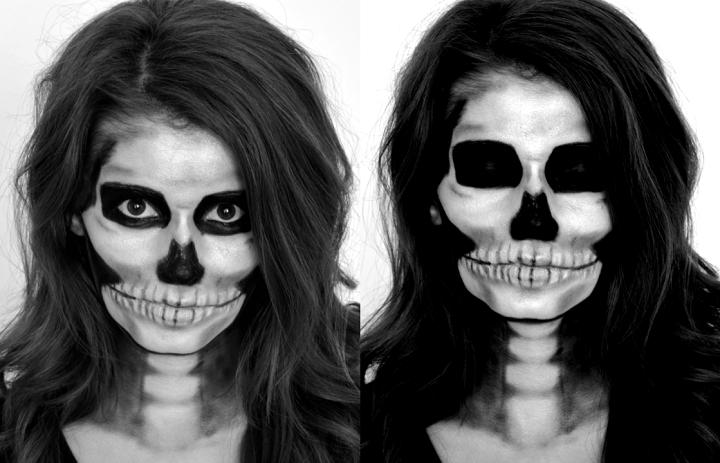 los esqueletos ojos oscuros cerrados fondos