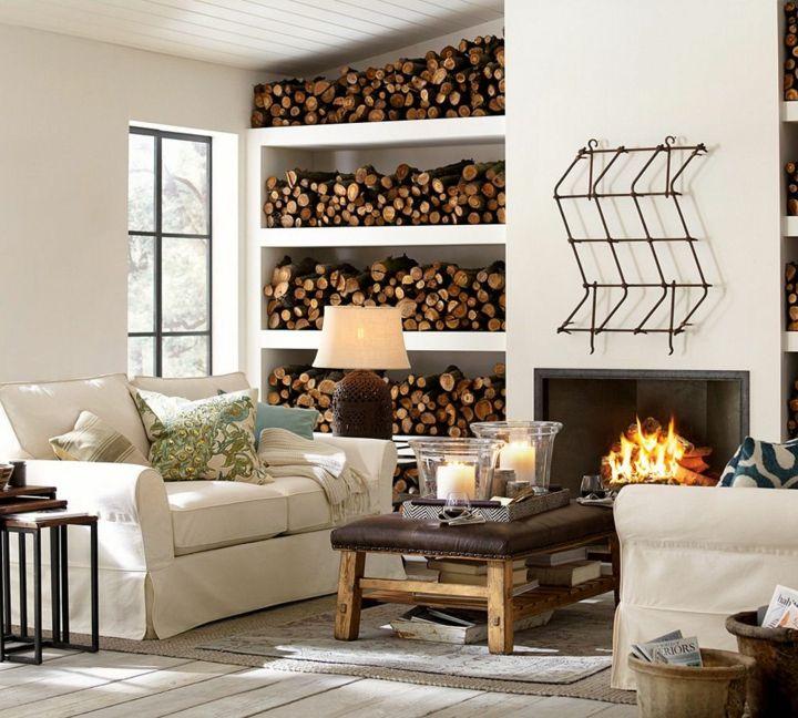 madera estantes integraciones fuentes rustico
