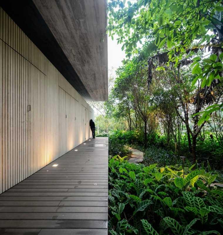 madera materiales exteriores salas bordes