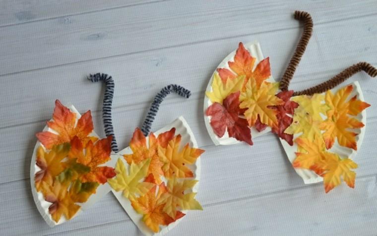 manualidades con hojas secas