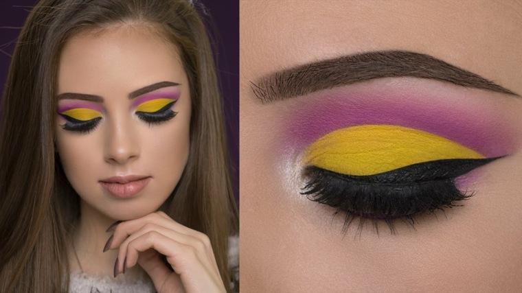 maquillarse los ojos colores