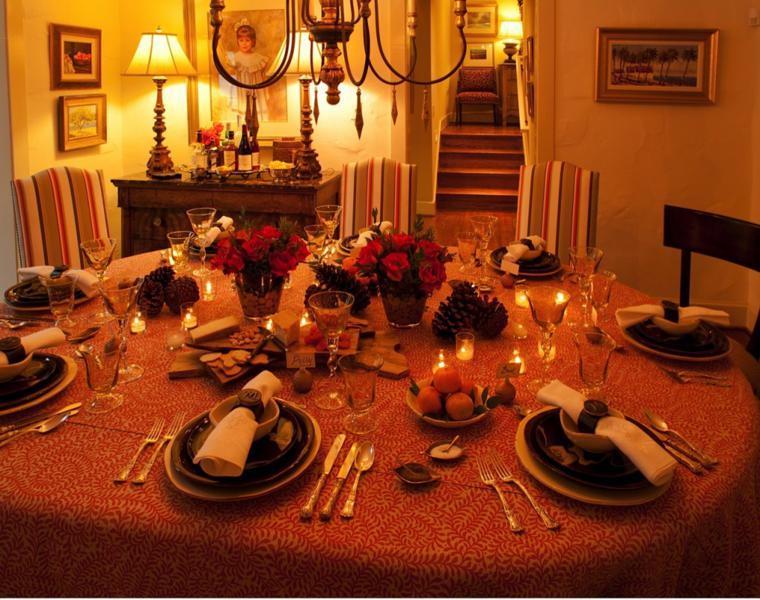 mesa decoración para otoño