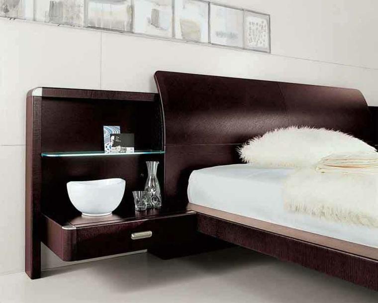 mesitas de noche originales dormitorios madera