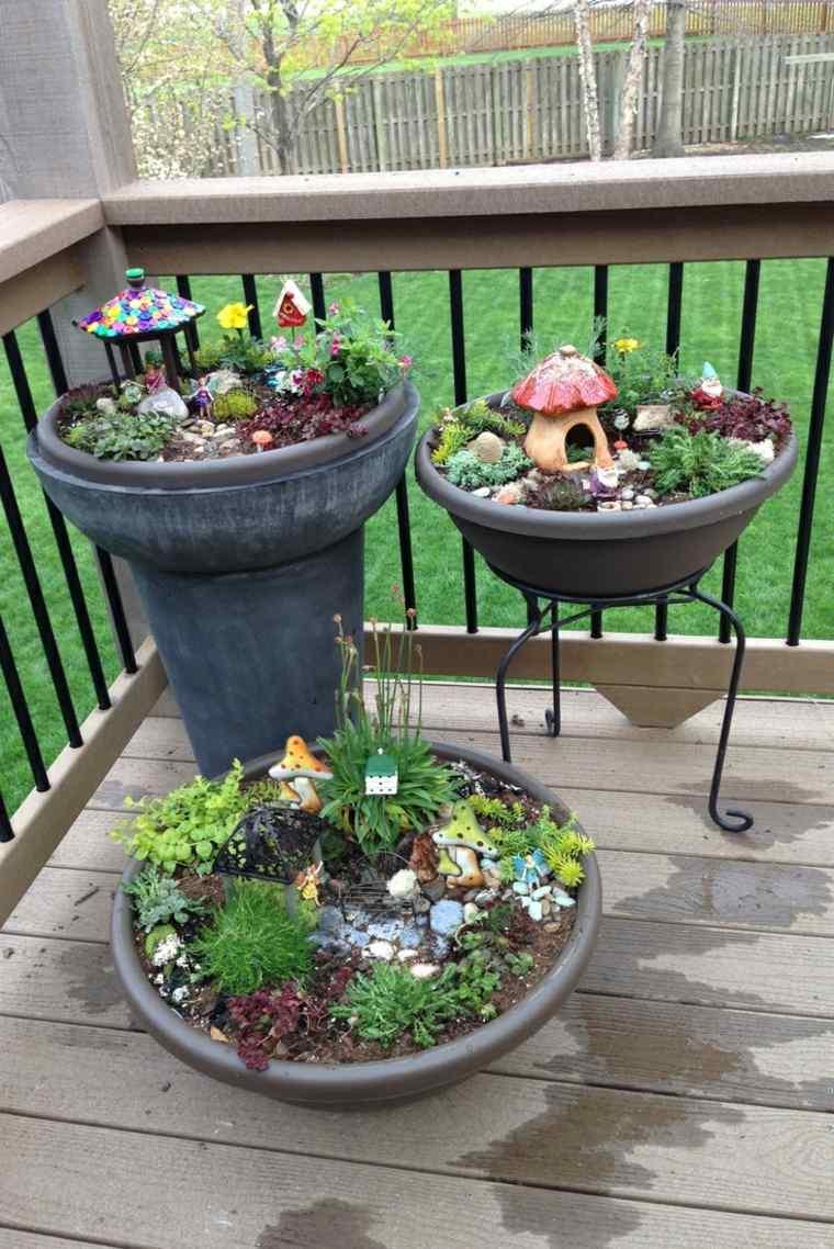 miniaturas jardin miniatura decorar terraza ideas