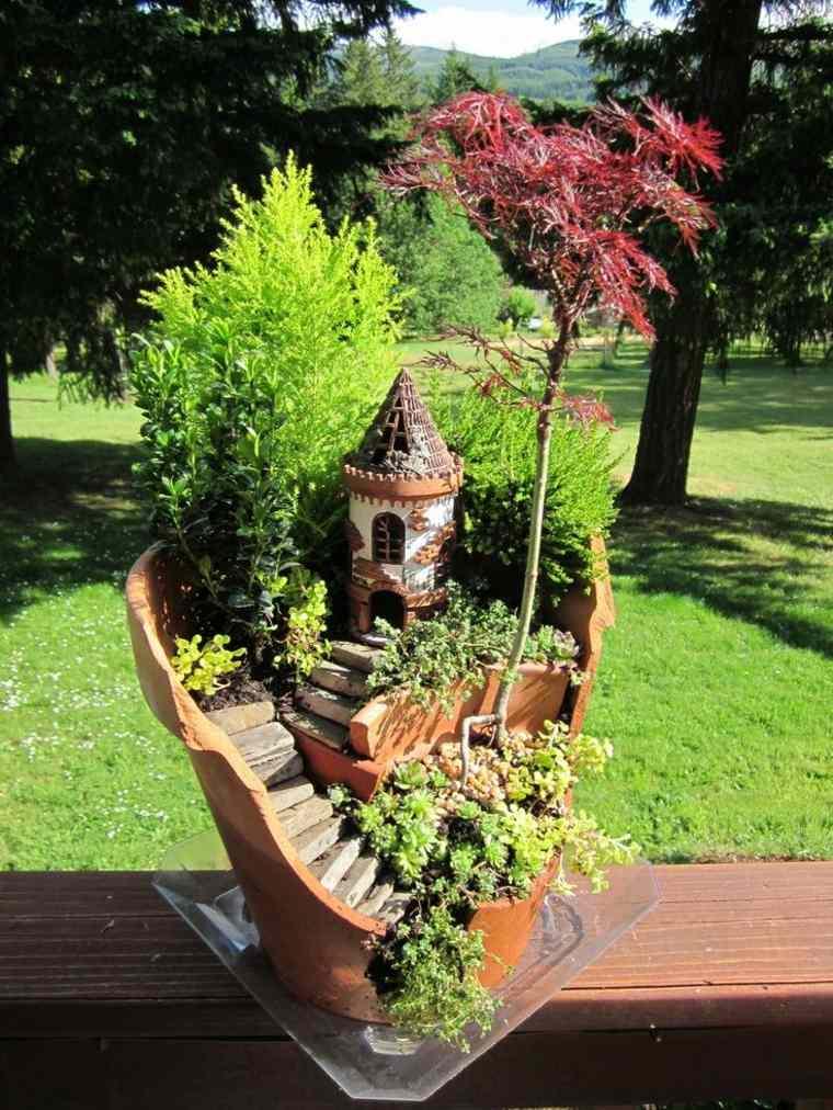 miniaturas jardin miniatura maceta bonito ideas