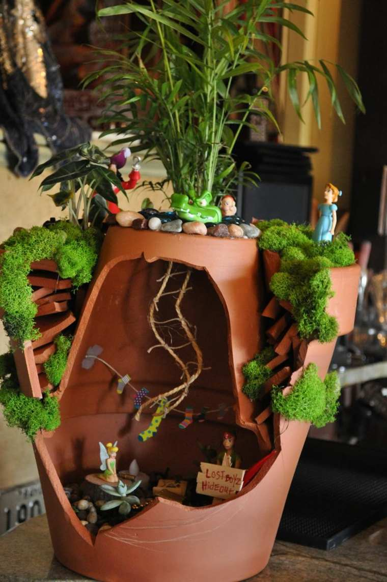 Miniaturas 24 ideas de jardines en miniatura m gicos for Macetas miniatura