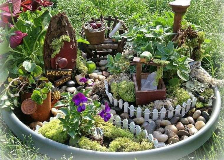miniaturas jardin miniatura piedras bonito ideas