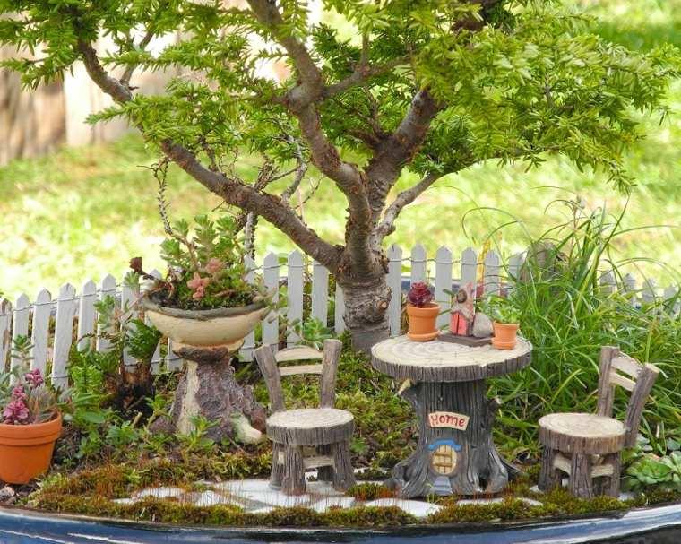 miniaturas jardin miniatura rustico madera ideas