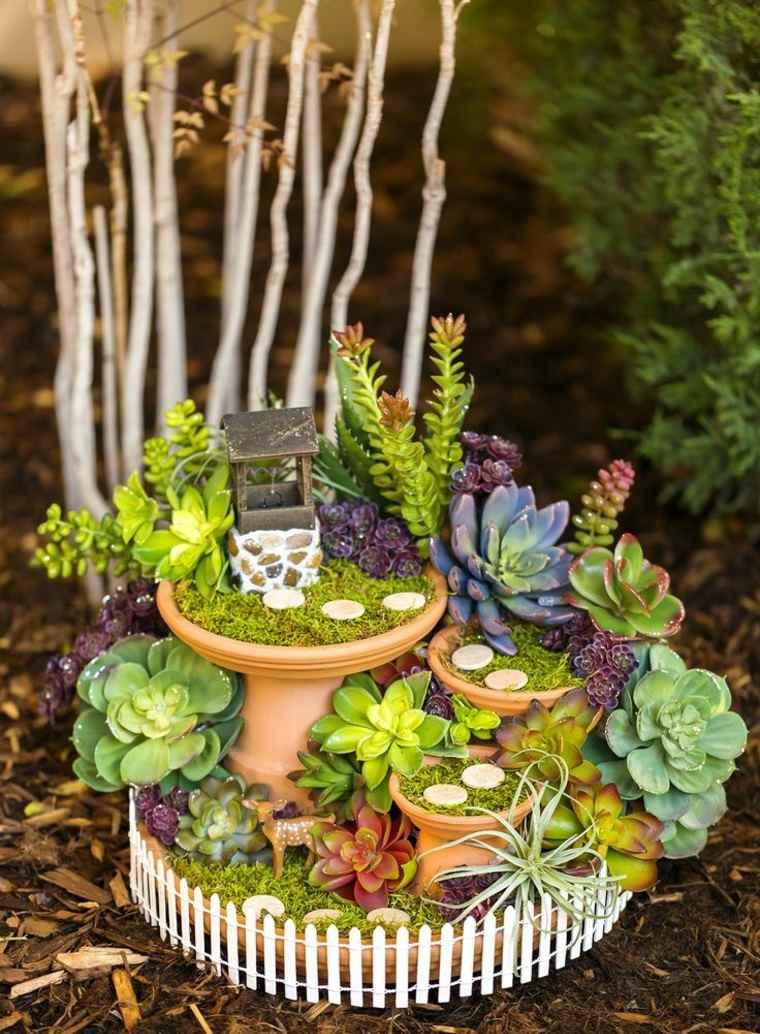 miniaturas jardin miniatura suculentas ideas