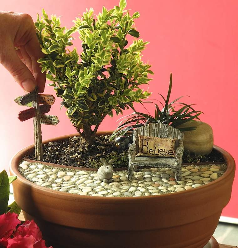 miniaturas jardin miniatura suelo piedras ideas