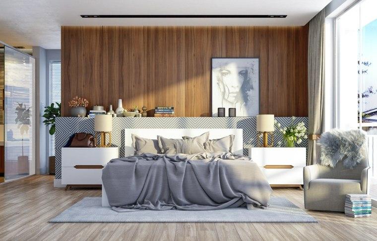 modernas paredes madera interiores flores