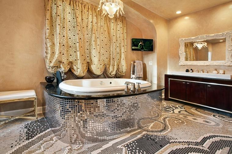 mosaico para baño suelo