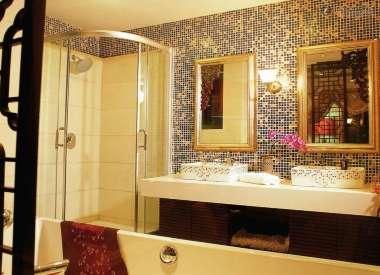 mosaicos para baño paredes