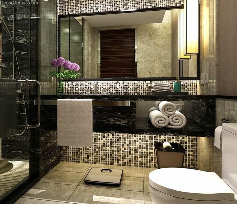 Mosaicos para ba os ideas inspiradoras for Espejo dorado bano