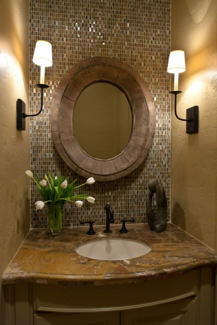 Mosaicos para ba os ideas inspiradoras - Espejos para decorar paredes ...