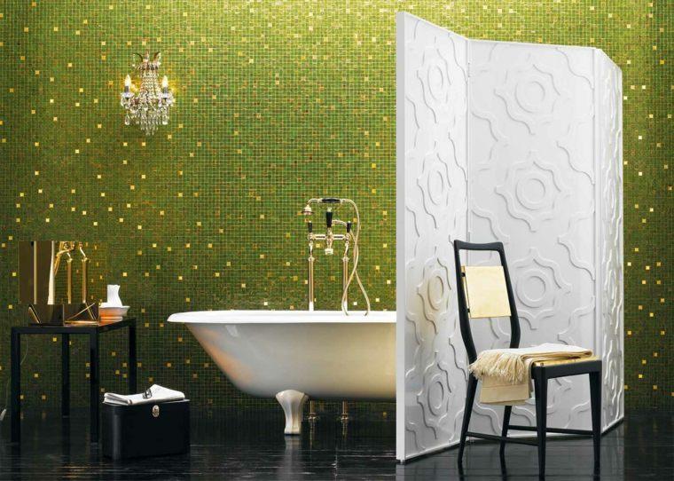 mosaicos para baños verdes