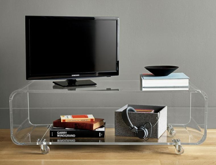mueble tv pequeño transparente