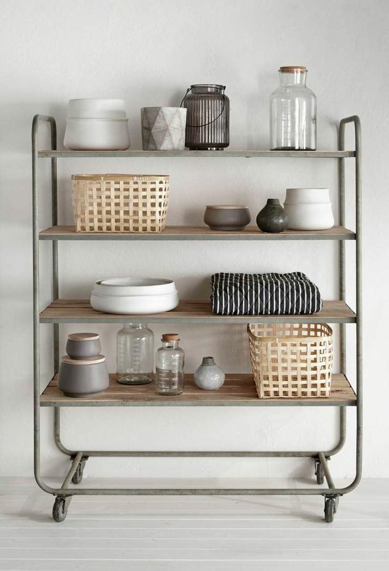 Muebles auxiliares de cocina 24 dise os interesantes for Mesa auxiliar cocina con ruedas