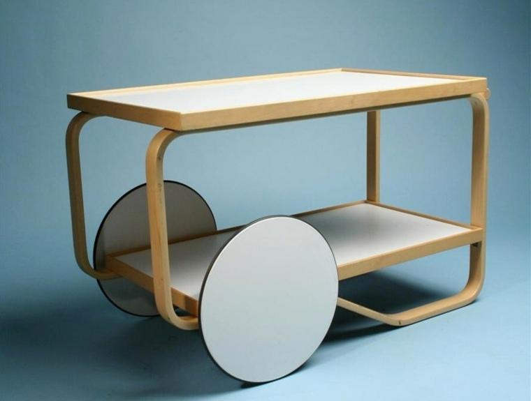 Muebles auxiliares de cocina 24 dise os interesantes for Alvar aalto muebles