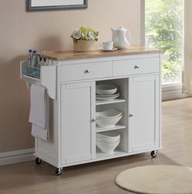 Mueble auxiliar perfecto para cocinas con diseño clásico y elegante