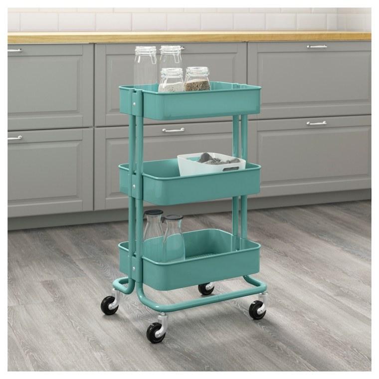 Muebles auxiliares de cocina 24 dise os interesantes for Carro auxiliar para cocina