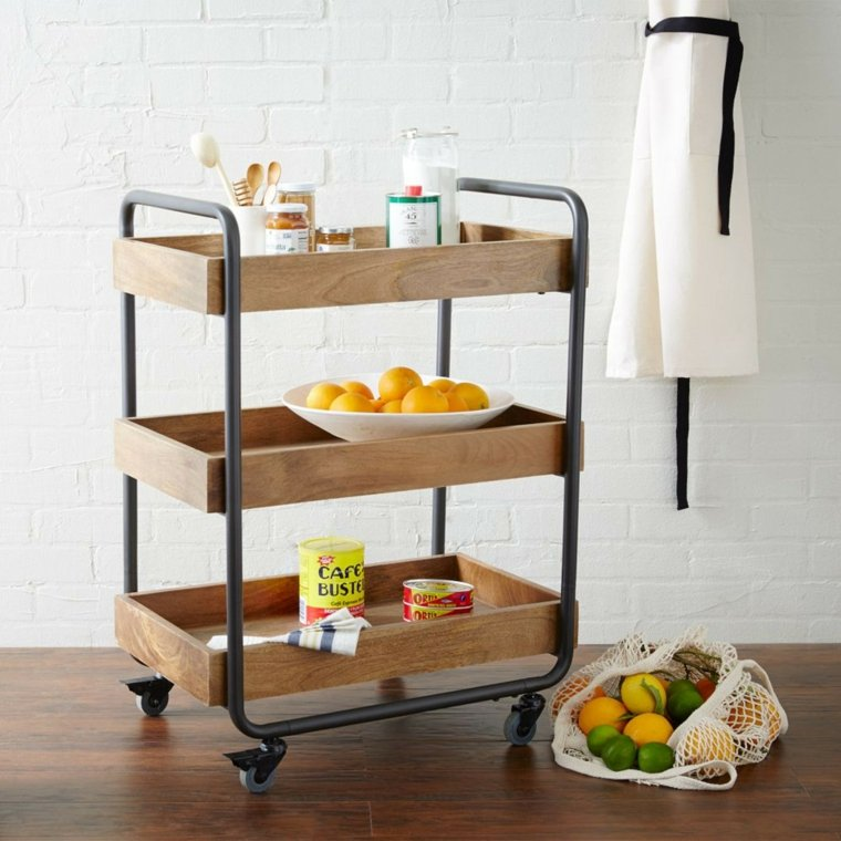 Muebles auxiliares de cocina 24 dise os interesantes - Muebles para frutas ...