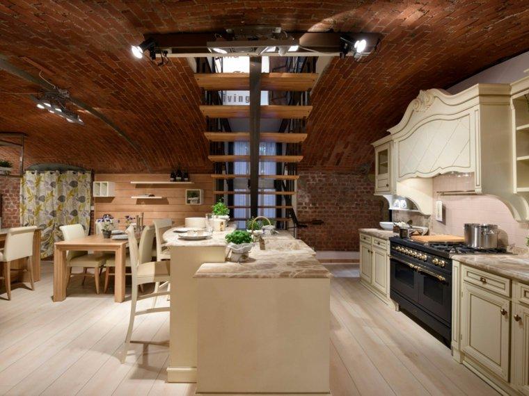 muebles blancos estilo clasico cocina ideas