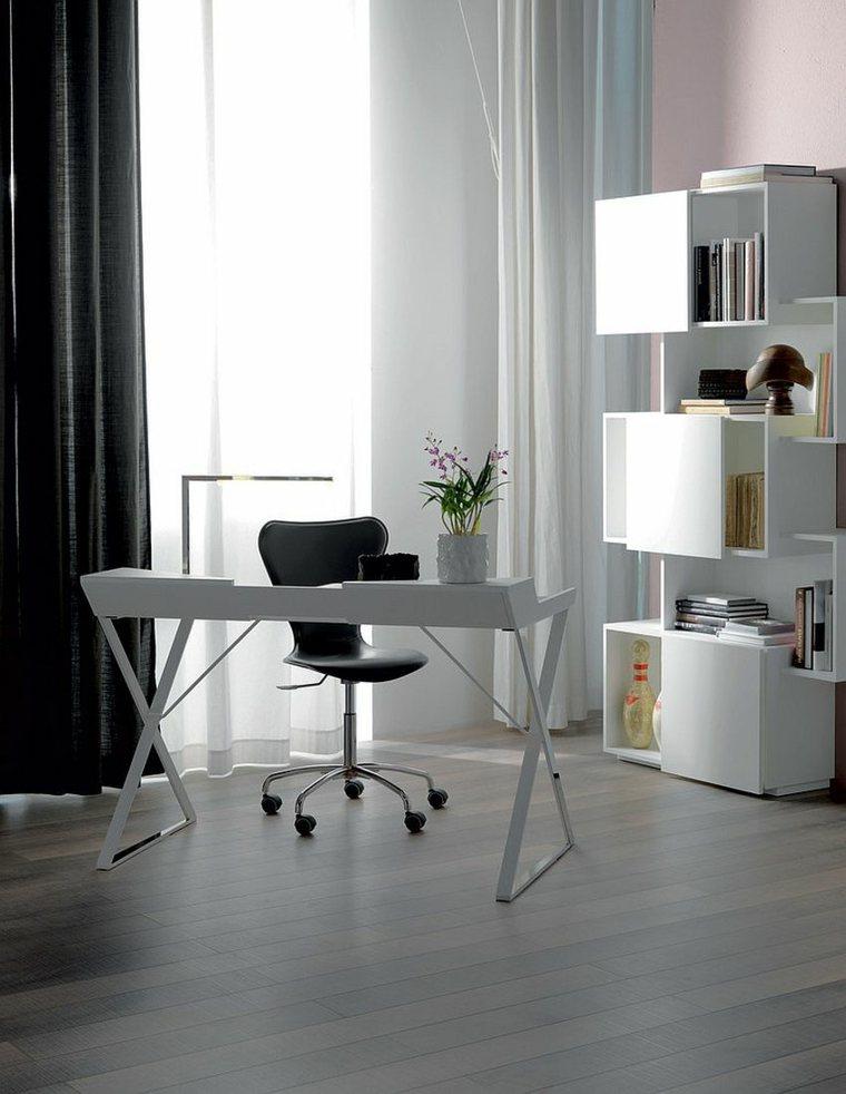 muebles oficina blancos estilo moderno