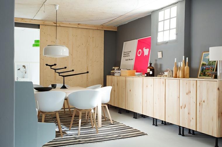 muebles comedor madera nórdico