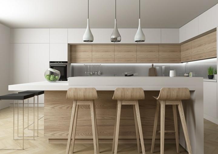 naturales cocinas muebles modernas pendientes