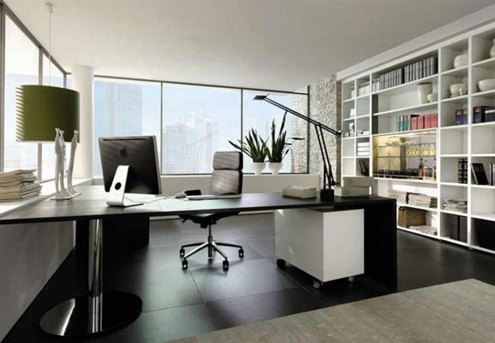oficina espacio color conceptos verdes