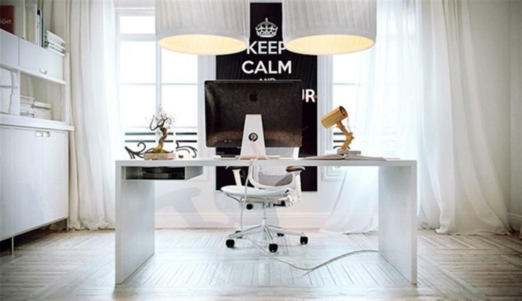 oficina moderna mesa blanca