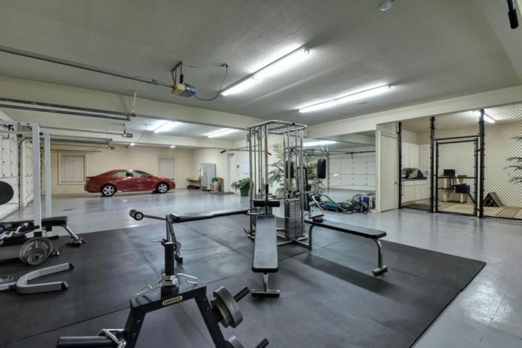 organizacion garaje consejos espacio amplio gimnasio ideas