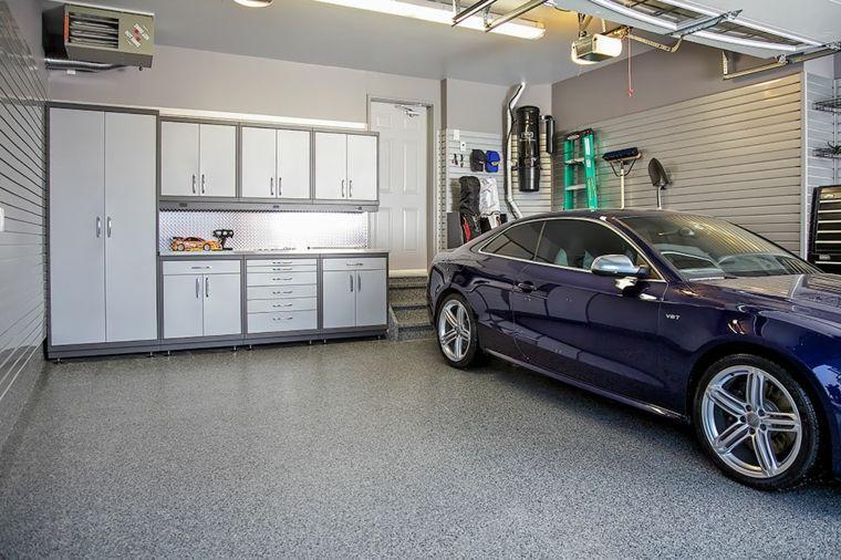 organizacion garaje consejos espacio armarios personalizados blanco ideas