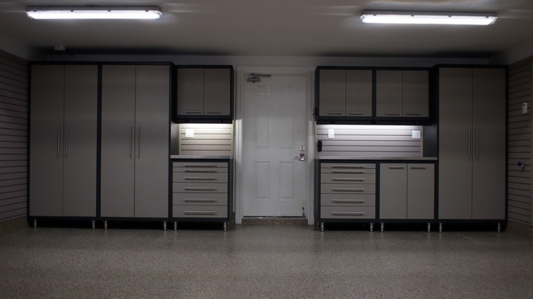 organizacion garaje consejos espacio encimeras iluminadas ideas