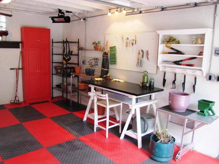 organizacion garaje consejos espacio estantes blancos ideas