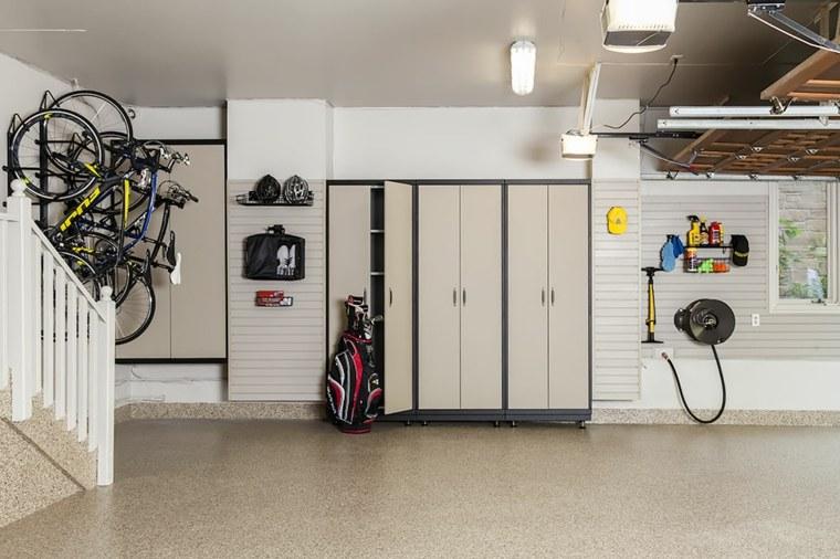 organizacion garaje consejos espacio muebles estantes ideas