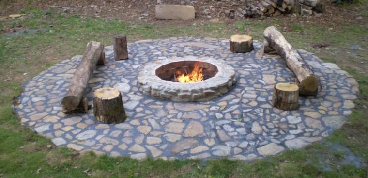 original pozo fuego piedra