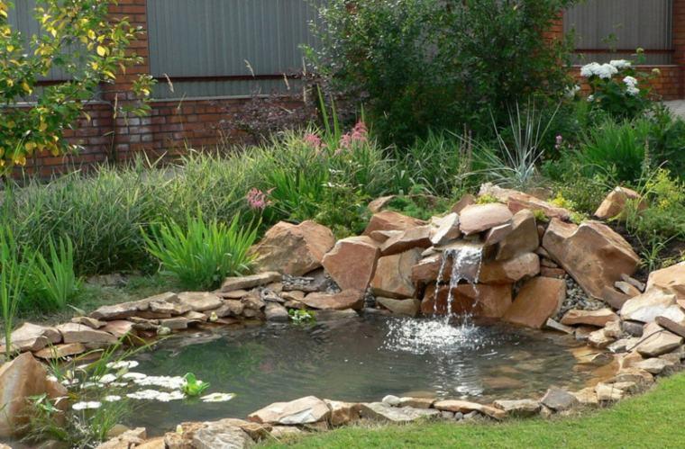 original diseño rocalla estanque jardinc