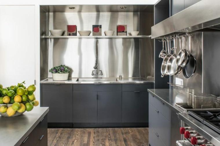 original diseño cocina salpicadero acero
