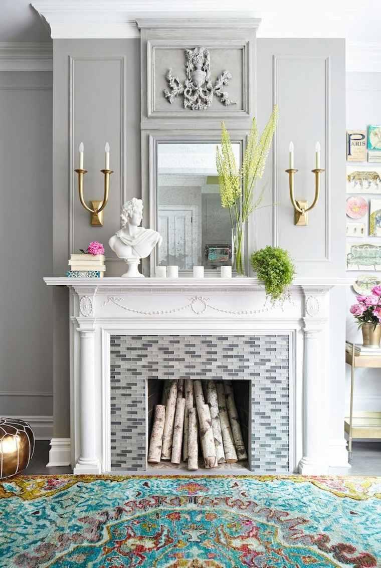 chimeneas decorativas llenas leña