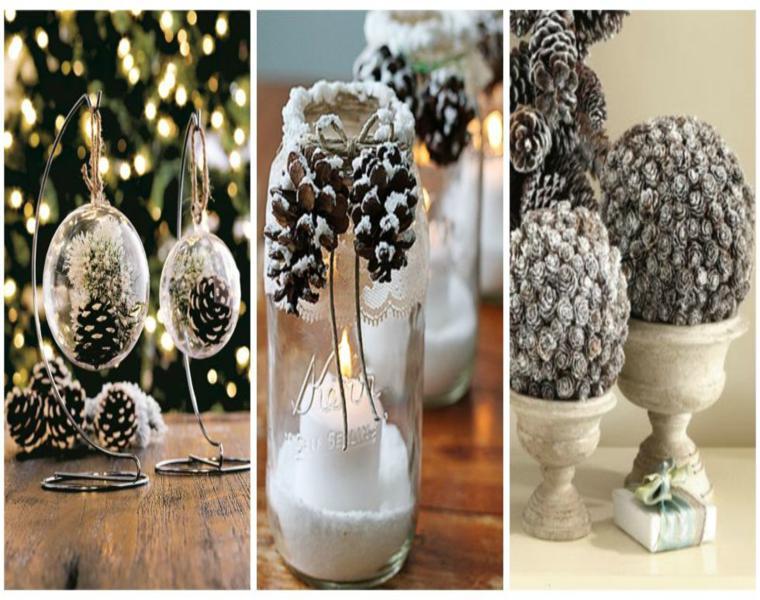 Pi as y hojas secas decora tu mesa para recibir el oto o for Decoracion con pinas secas