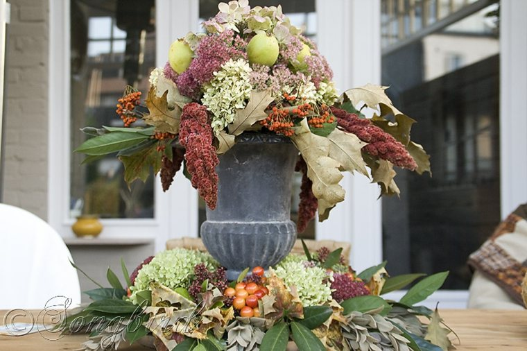 original diseño de decoracion exterior otoño