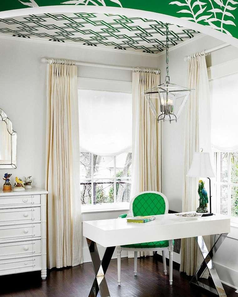 Dise o interiores de despachos blancos amplios e iluminados - Decoracion de despachos ...