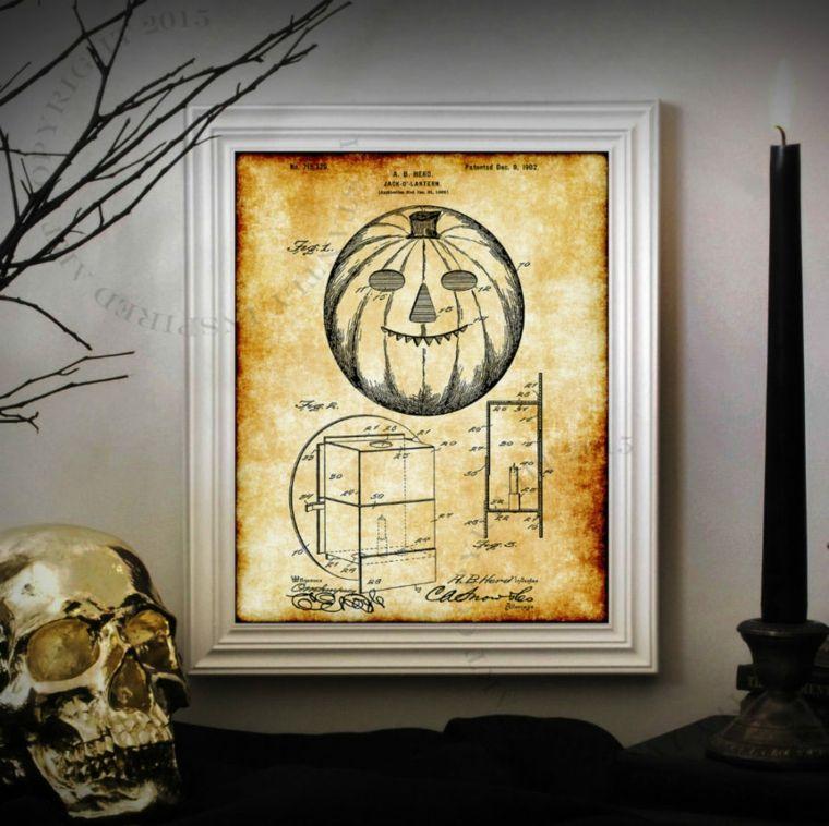original diseño cuadro calabaza halloween
