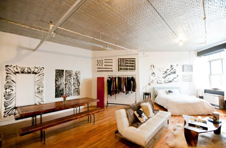 original diseño apartamento techo falso