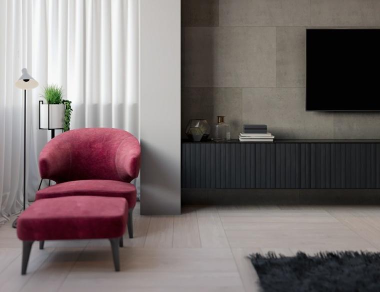 original diseno sillon rojo moderno